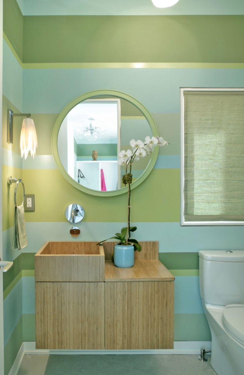 Bathroom Design Ideas With Stripes ~ Incorporating asian inspired style into modern décor