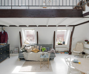 Small But Bright Upper Floor Loft With Elegant Design Features