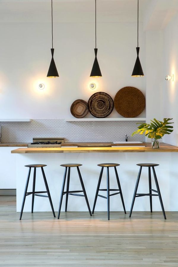 Black Kitchen Island Pendant Light