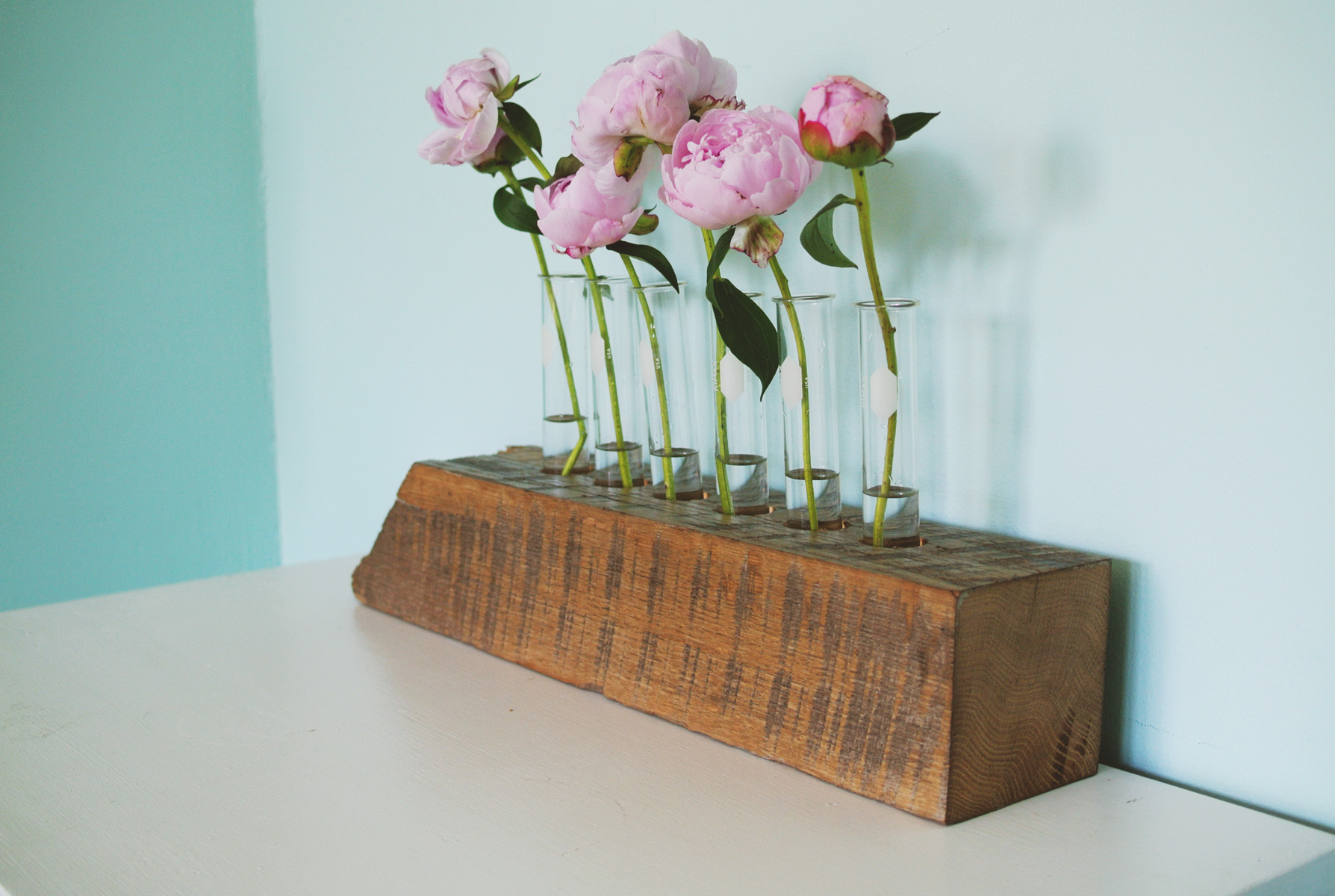 DIY test tube vase instructions