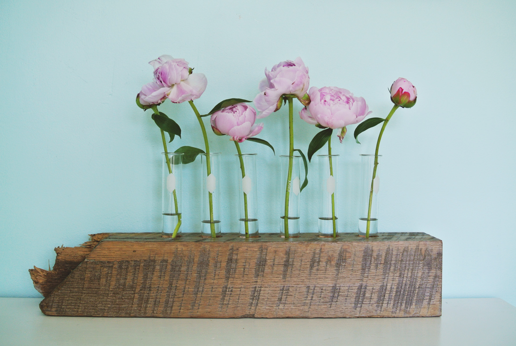DIY test tube vase tutorial