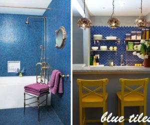 Spruce Up Your Home With color – Blue Tiles For The Kitchen And Bathroom