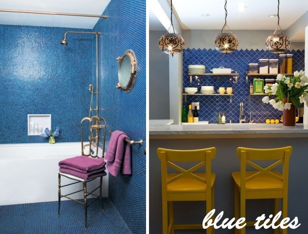Spruce Up Your Home With Color U2013 Blue Tiles For The Kitchen And Bathroom Nice Design