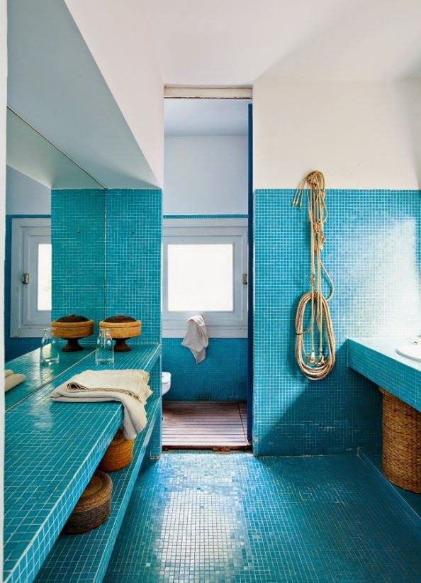 spruce up your home with color blue tiles for the kitchen and bathroom. Black Bedroom Furniture Sets. Home Design Ideas
