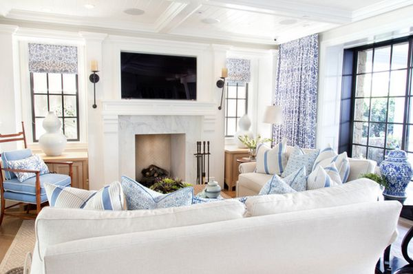 Blue And White Decor bring the beach into your home - 10 tips for a breezy decor
