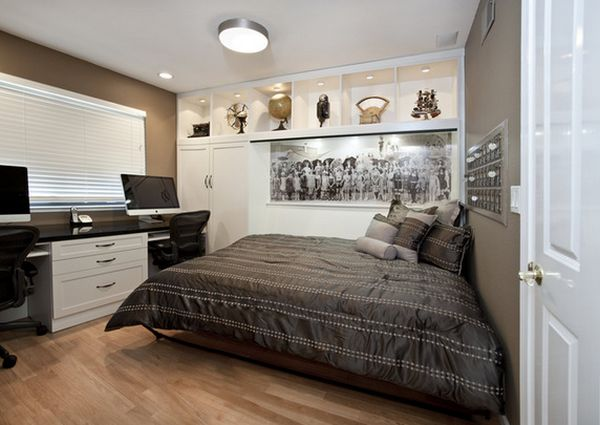 Maximize small spaces murphy bed design ideas for Normal bedroom designs