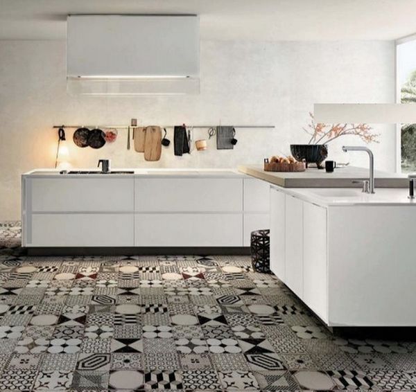 black and white floor tile kitchen.  kitchen floor View in gallery Patchwork Tiles Mix And Match Your Favorite Colors For A