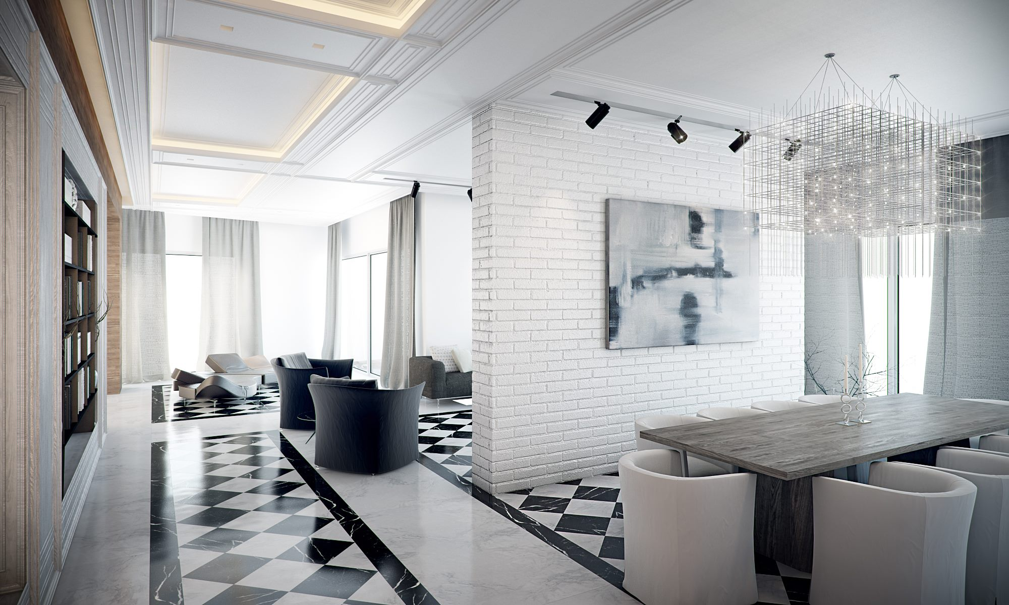 Exceptionnel 1. Mix With Marble. View In Gallery. This Black And White Marble Floor ...