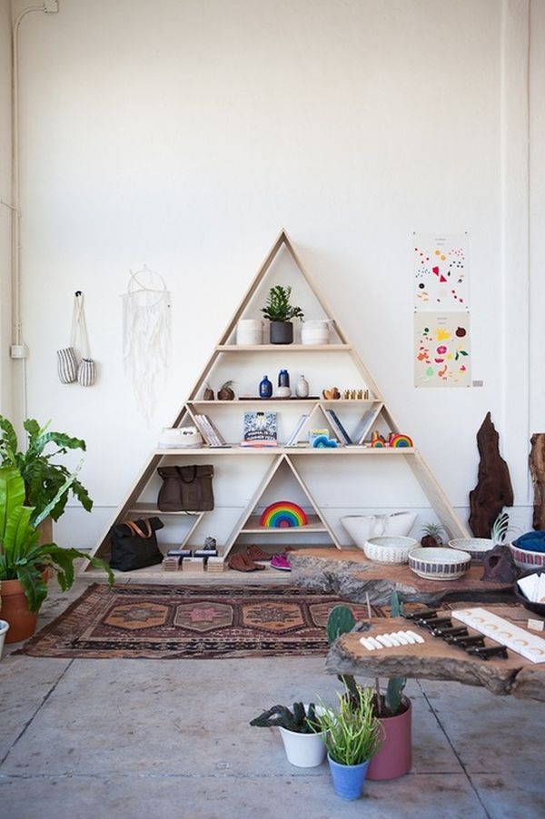 Geometric Shelves Simple Yet Eccentric And Great For Every Room