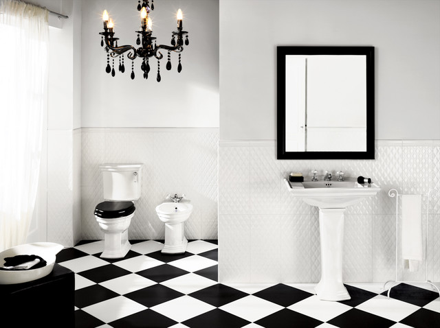 Black White Tiling That Will Wow You - Black-and-white-bathrooms