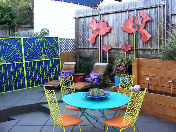 Colorful youthful back patios for Cadre multi photos mural