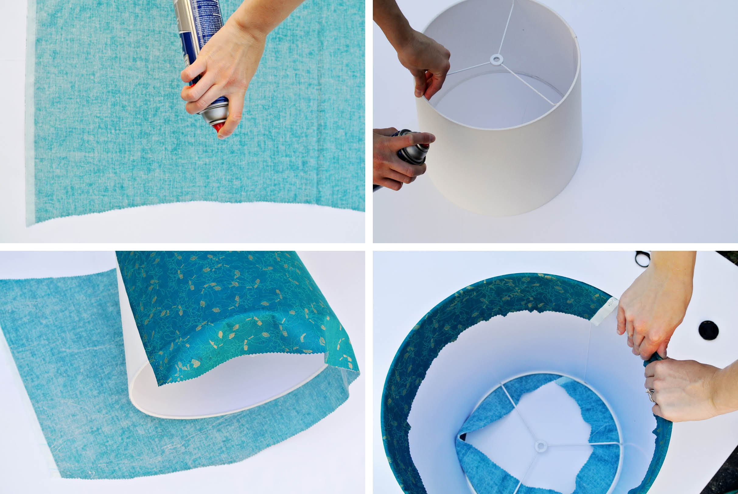 How to cover a lampshade with fabric aloadofball Image collections
