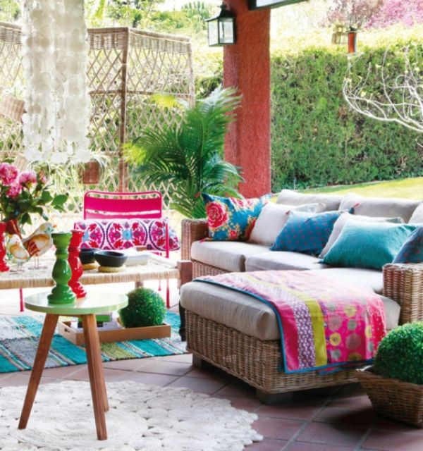 Colorful youthful back patios for Patio decorating photos