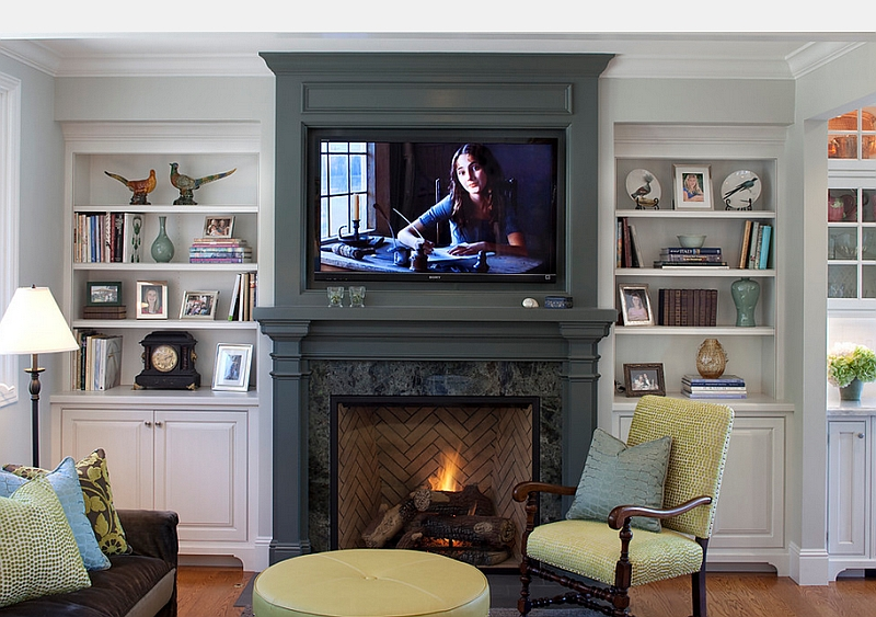 Tv Shelf Ideas 20 ways to incorporate wall-mounted tvs and shelves into your decor