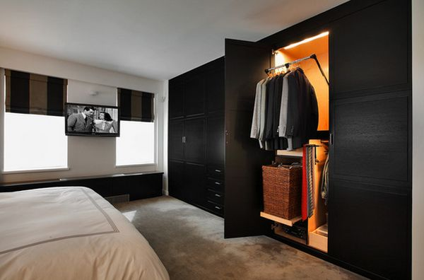 Clever wardrobe design ideas for out of the box bedrooms for Bedroom designs with tv and wardrobe