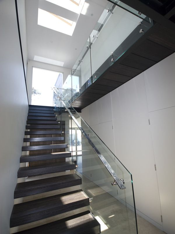 easy modern stairs design indoor. Home Decorating Trends  Homedit 20 Glass Staircase Wall Designs With A Graceful Impact On The