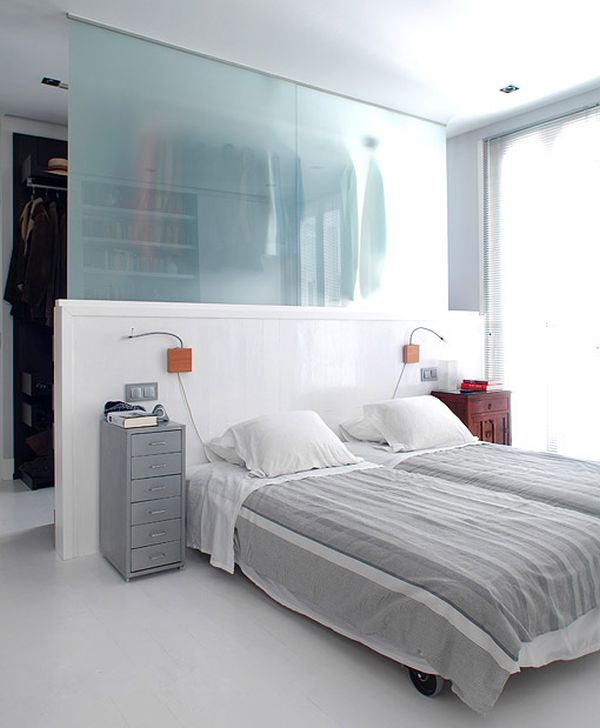 glass-divider-wardrobe-for-bedroom - Home Decorating Trends - Homedit