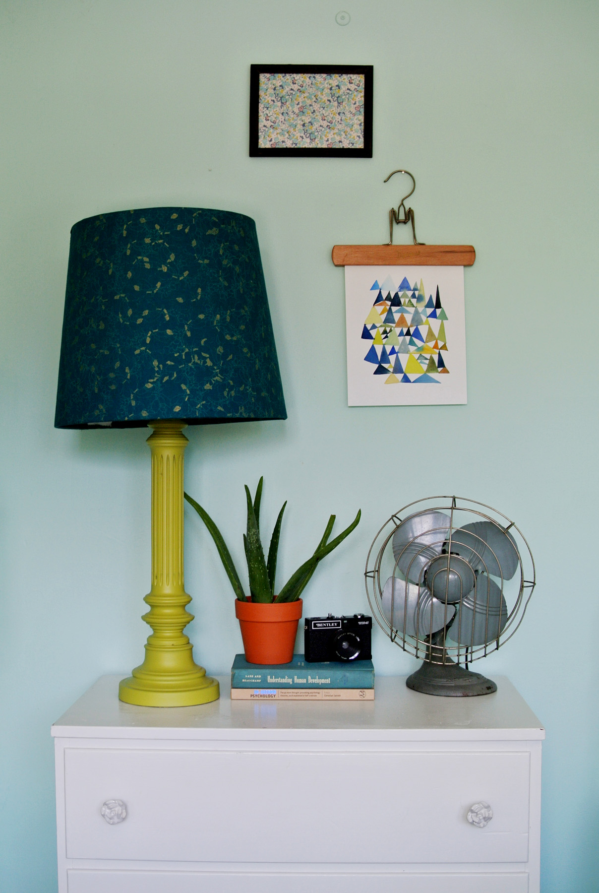 how to cover a lampshade in fabric