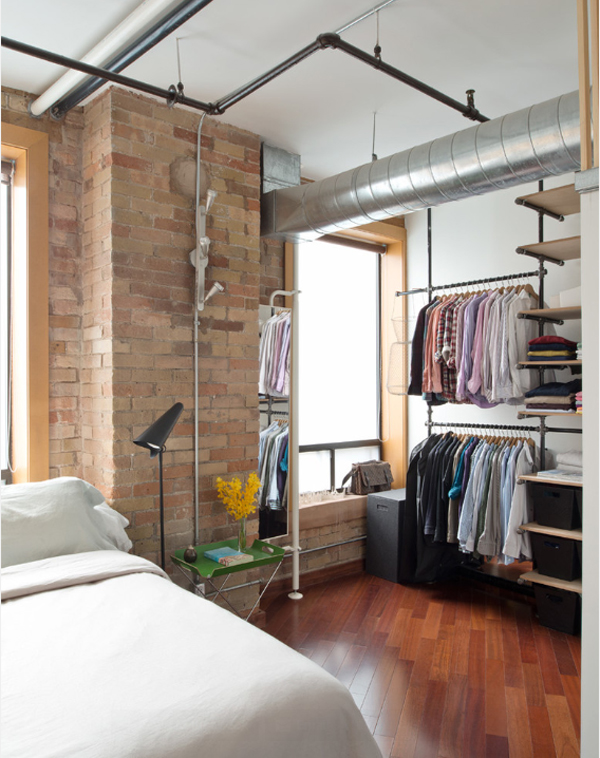 15 uses for pipe shelving around the house. Black Bedroom Furniture Sets. Home Design Ideas