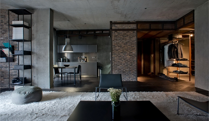 Industrial Meets Nature In This Remarkable Loft Kiev