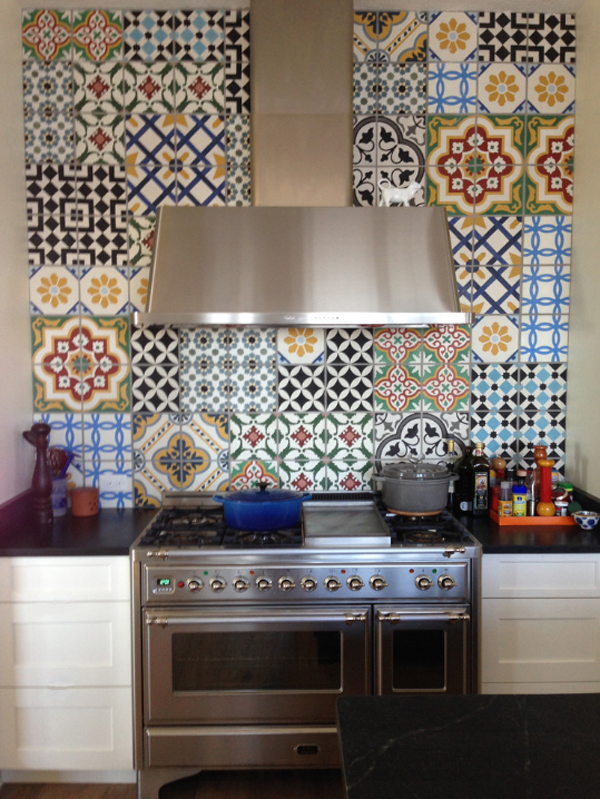 Patchwork Kitchen Backsplash