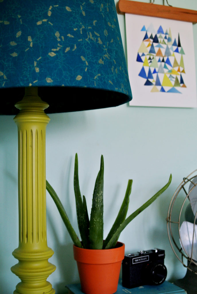 lampshade cover with fabric