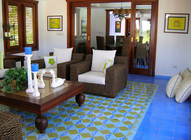 Use Different Types Of Tiles On The Floor To Demarcate Each Individual Area