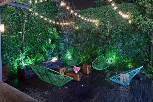 Outdoor Fairy Lighting Outdoor magic how to decorate with fairy lights view in gallery workwithnaturefo