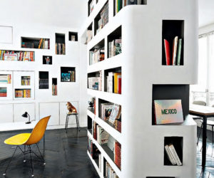 Home Library Inspiration – Built-in Bookcases With Creative Designs