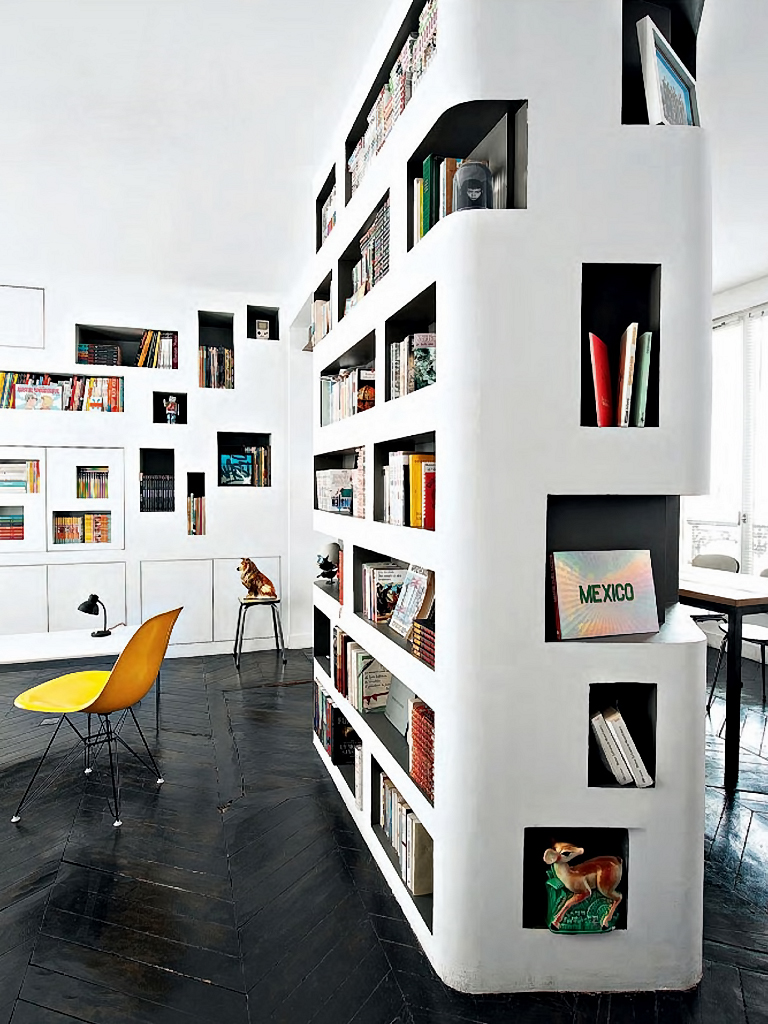 Modern Bookshelf Design home library inspiration - built-in bookcases with creative designs