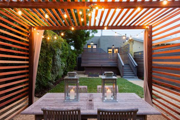 steel and wood exterior modern with trellis nickel outdoor pendant ...