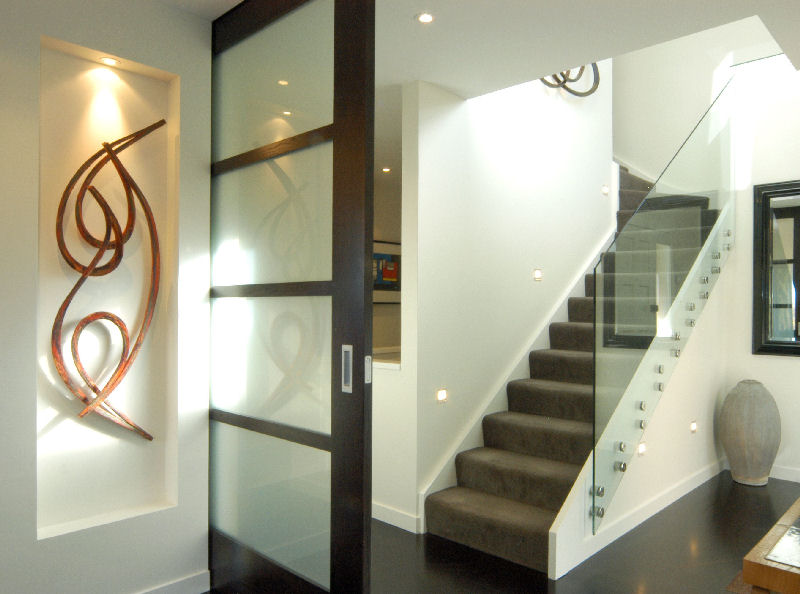 ... Use Carpet On The Stairs To Minimize The Cold Feel Created By The Glass