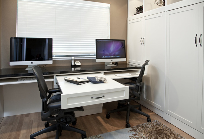 Maximize small spaces murphy bed design ideas for Small pull out desk