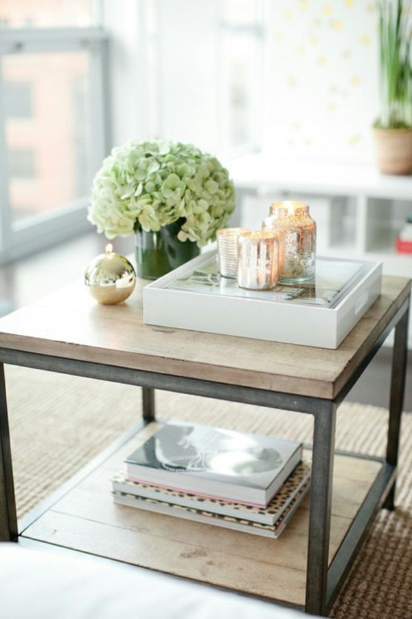 How to style coffee table trays ideas inspiration Decorating end tables without lamps