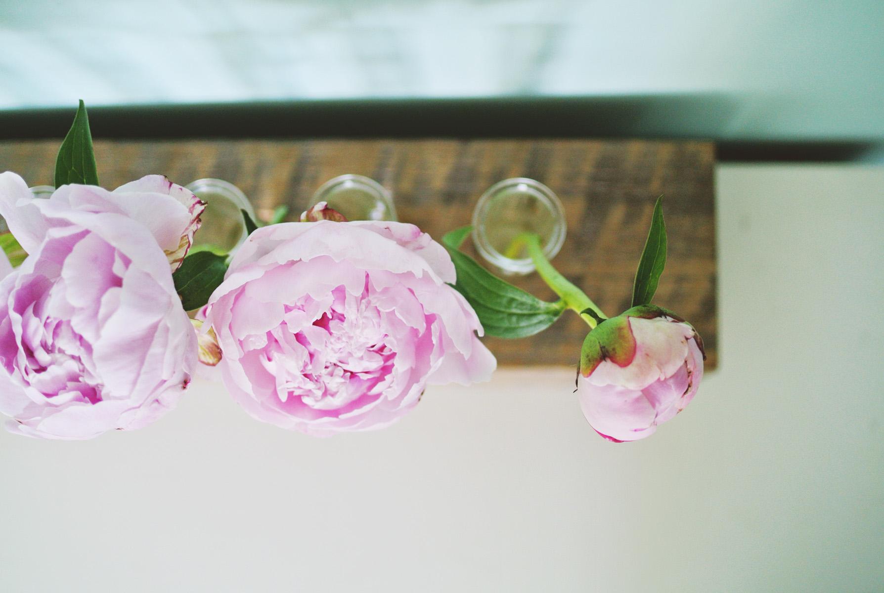 Diy Test Tube Flower Vase With Reclaimed Wood Base
