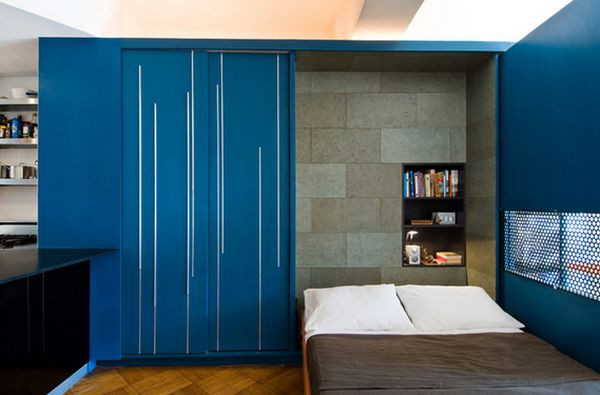 Studio Apartment Murphy Bed maximize small spaces: murphy bed design ideas