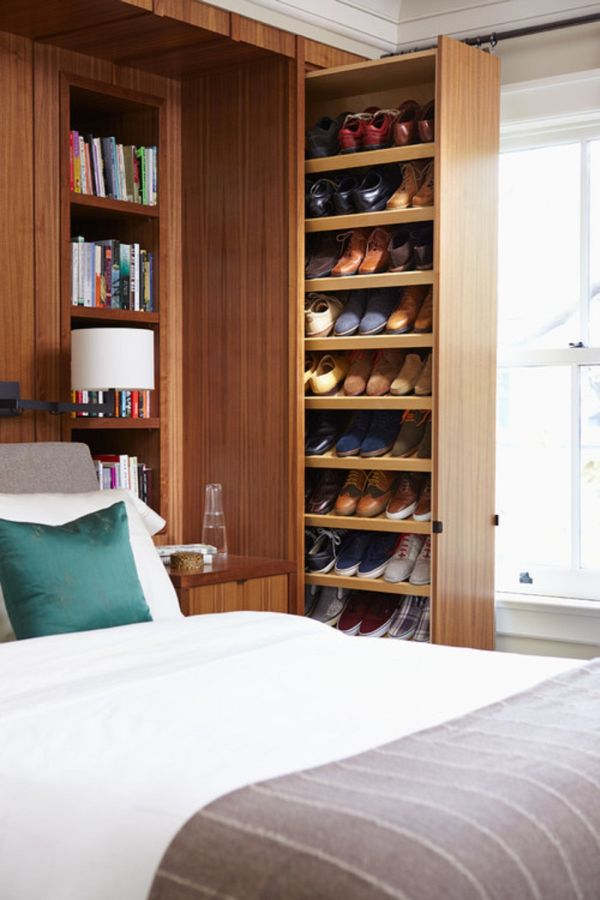 Storage Space Ideas For Small Bedrooms Part - 22: Vertical Storage.