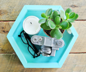 DIY Wooden Hexagonal Tray