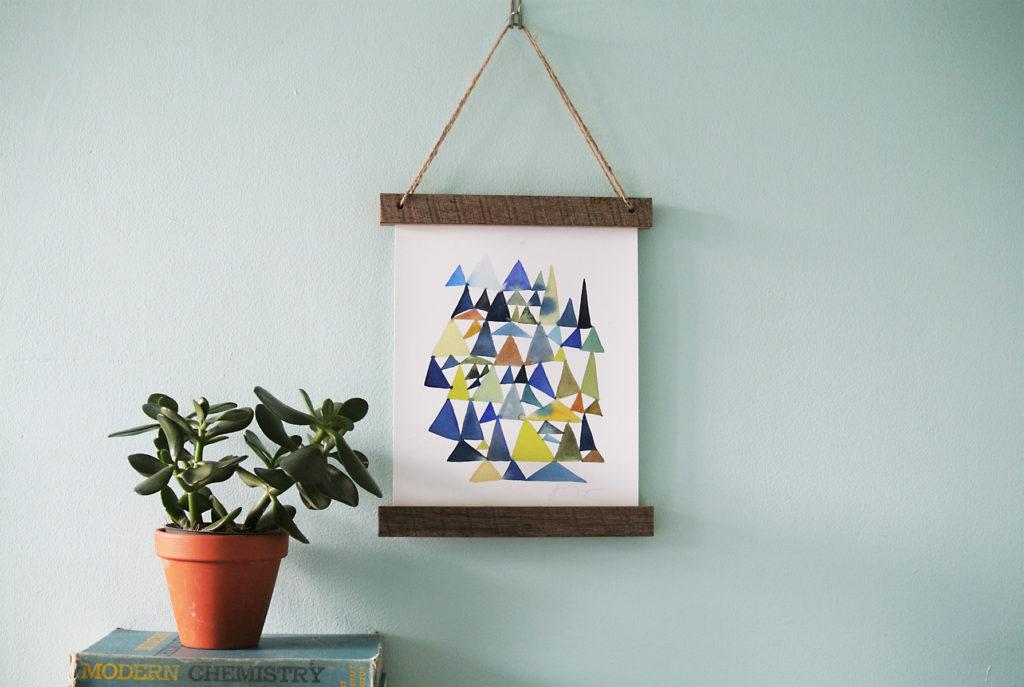 DIY wooden hanging frame