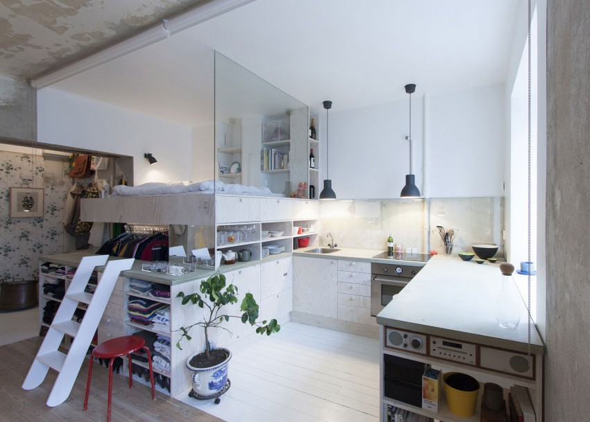 Smart Renovation Turns Old Jewelry Store Into A Small Modern Apartment