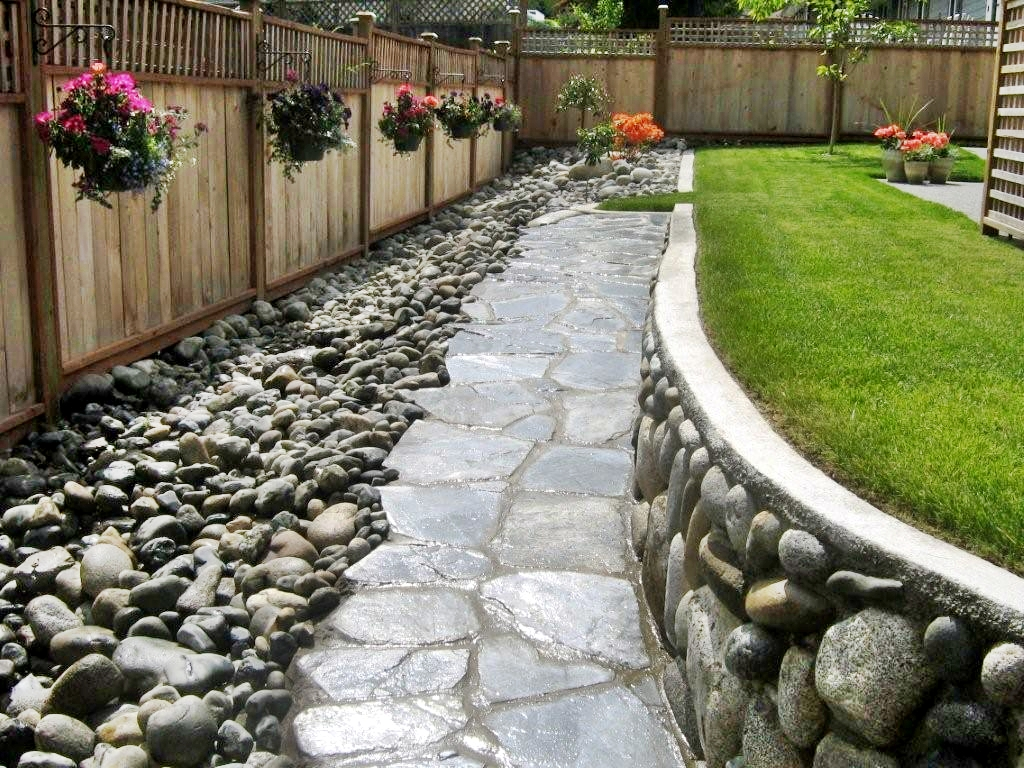 Design Backyard Landscape decoration backyard landscaping ideas natural backyard landscaping with trees gardens for life back yard trees along fence 20 Rock Garden Ideas That Will Put Your Backyard On The Map