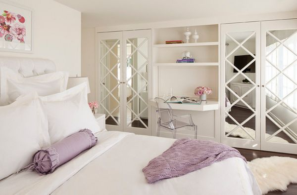 Beautiful Only Parts Of The Closet Doors Can Be Mirrored For A Harmonious Ambiance  View In Gallery ...