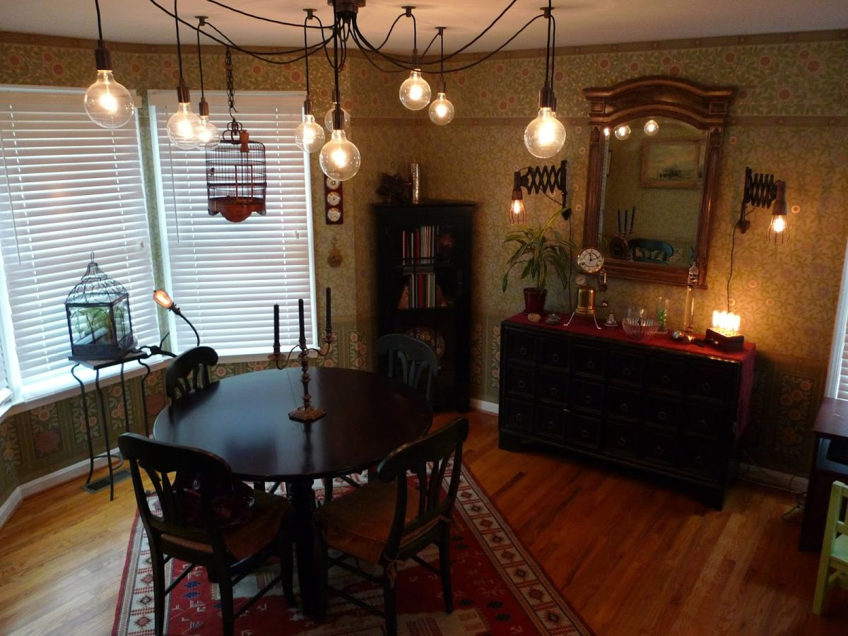 21  Add a chandelier. 21 Cool Tips To Steampunk Your Home