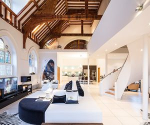 Former Church Becomes A Luxurious Residence With A Glamorous Interior