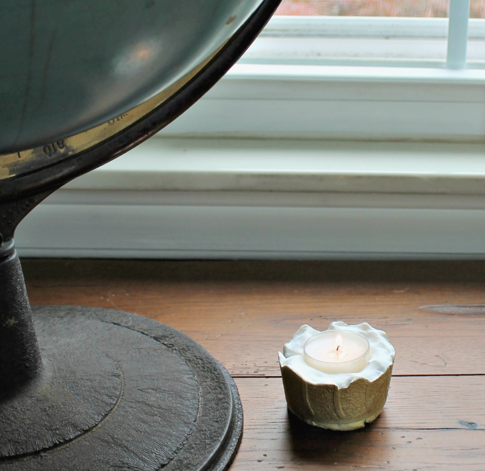 concrete tealight holder diy