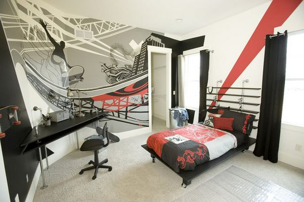 View in gallery. Eye Catching Wall D cor Ideas For Teen Boy Bedrooms