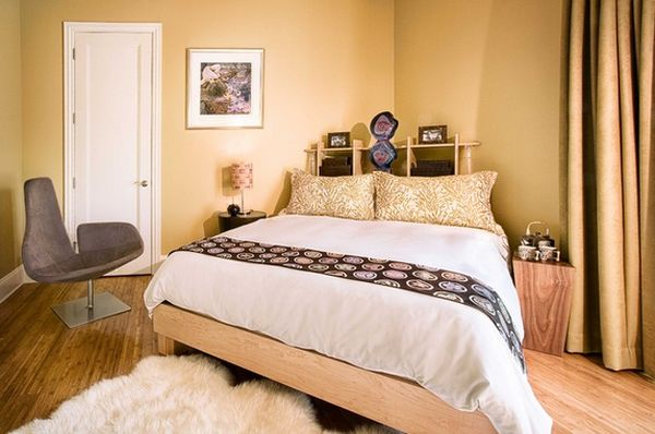 Creative with corner beds how to make the most of your for Bed placement in small room