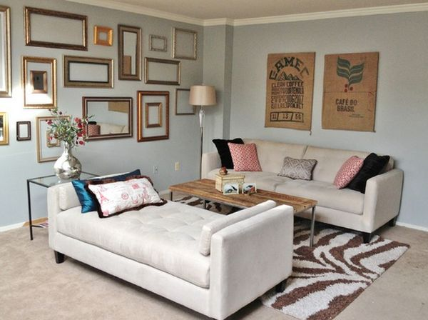Simplicity and beyond how you can use empty frames as wall decor for Lounges for small living rooms