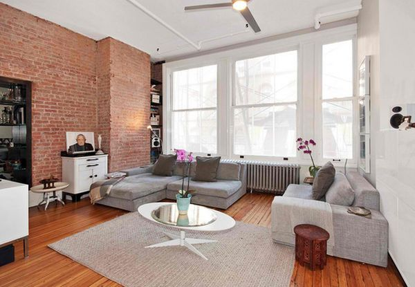 Incorporating exposed bricks in stylish designs around the for White exposed brick wall