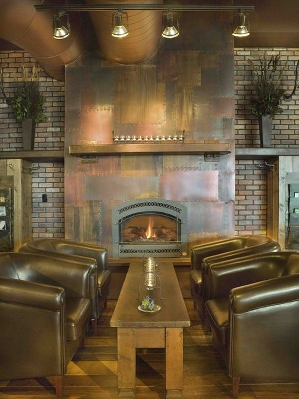 3 add an industrial touch with exposed bricks - Steampunk Interior Design Ideas